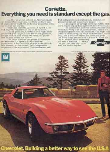 1972 Chevrolet Corvette Ads