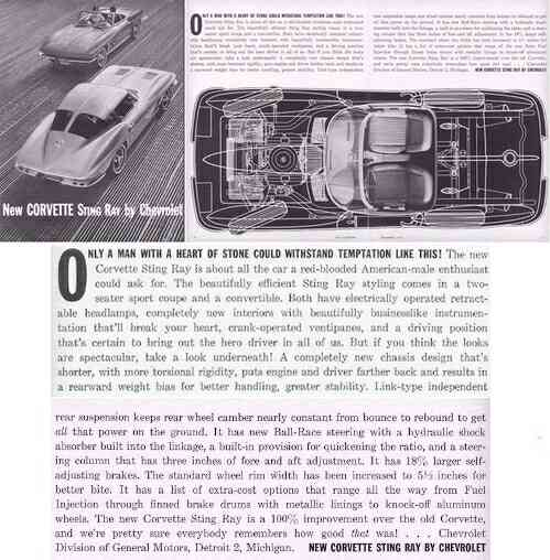 1963 Chevrolet Corvette Ad
