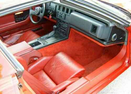 Interior of the 1984 C4 Corvette