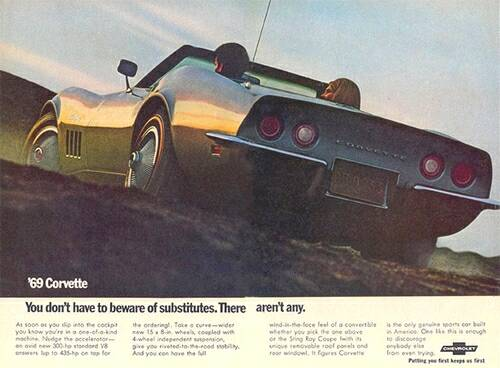 1969 Chevy Corvette Ad