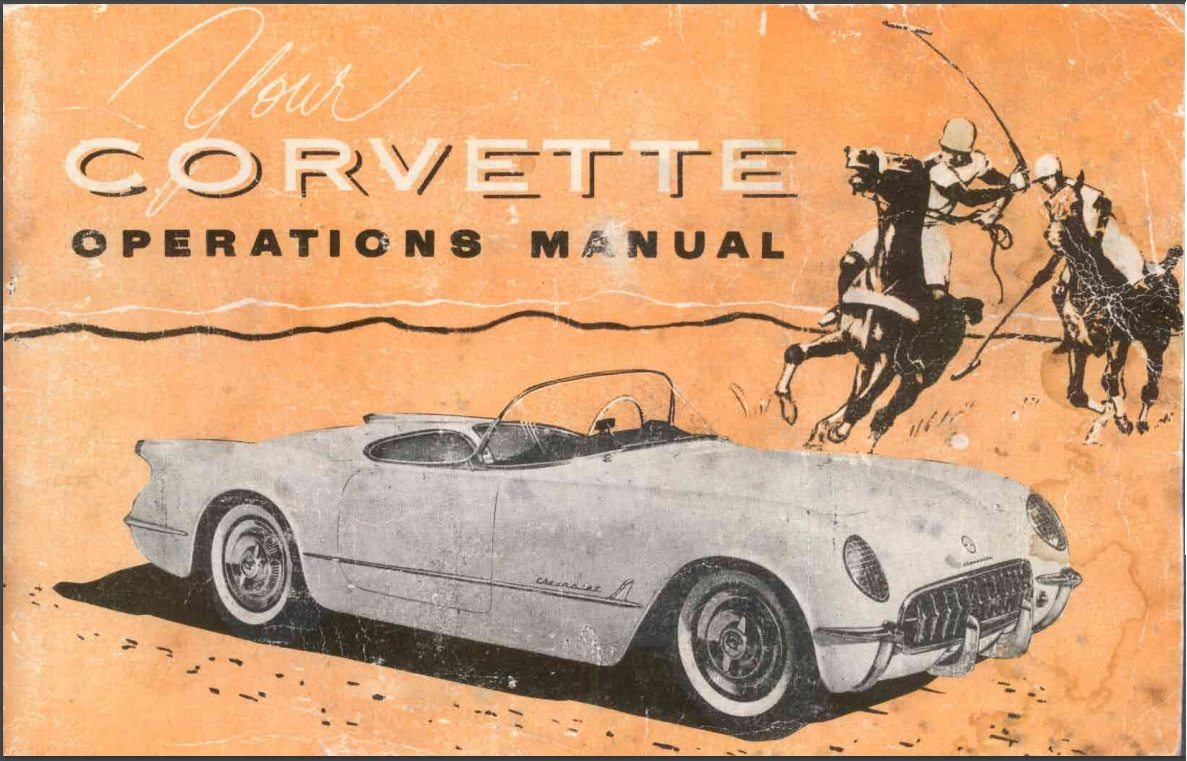 1953 Corvette Owners User Manual