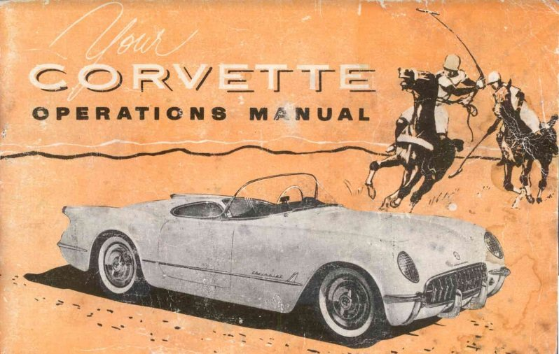 1954 Corvette Owners User Manual