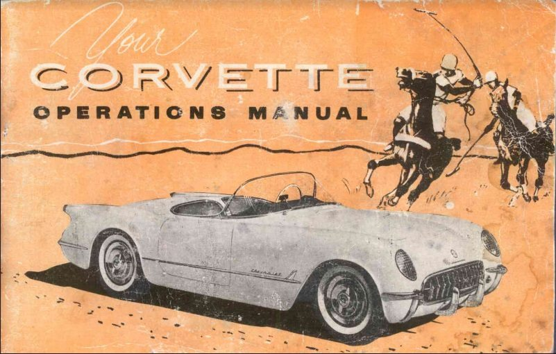 1955 Corvette Owners User Manual