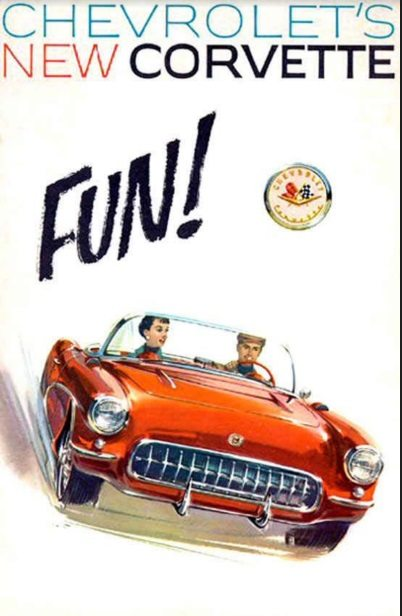 1957 Corvette Dealers Sales Brochure