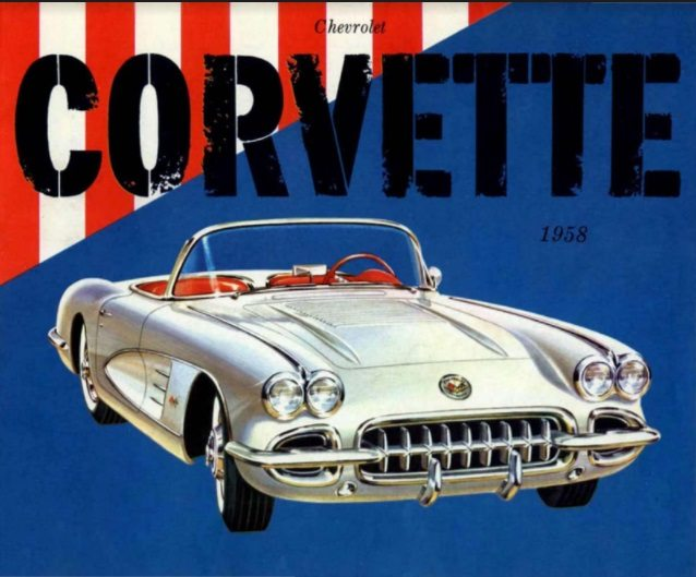 1958 Corvette Dealers Sales Brochure