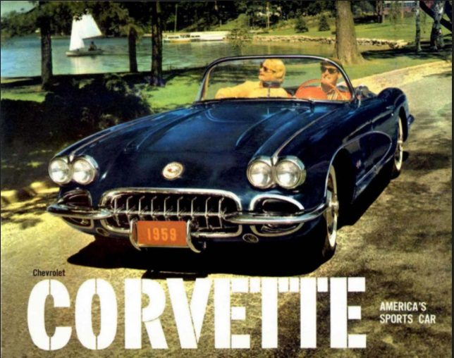 1959 Corvette Dealers Sales Brochure