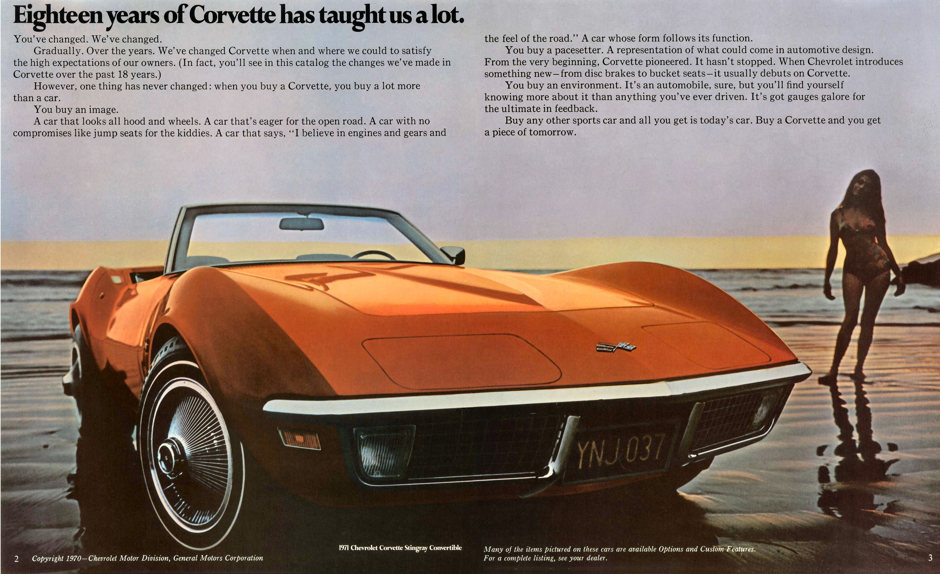 1971 Chevrolet Corvette Ad