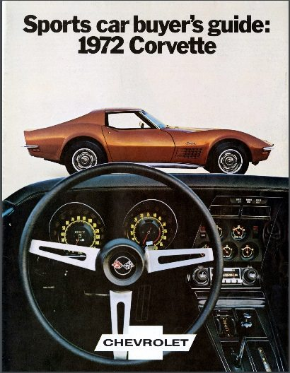 1972 Corvette Dealers Sales Brochure