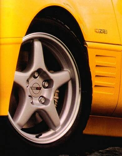 Wheels of the 1994 ZR-1 Corvette.