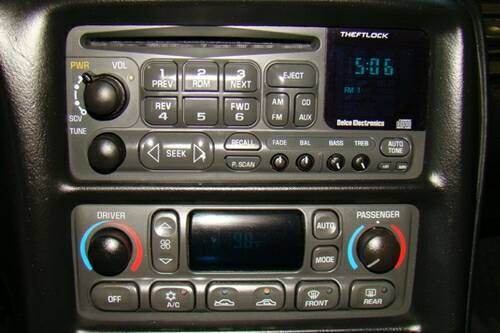 2002 Corvette in-dash CD Player