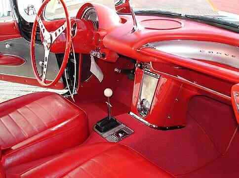 Interior of 1959 Corvette