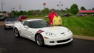 Car donated by Ron Fellows to National Corvette Museum