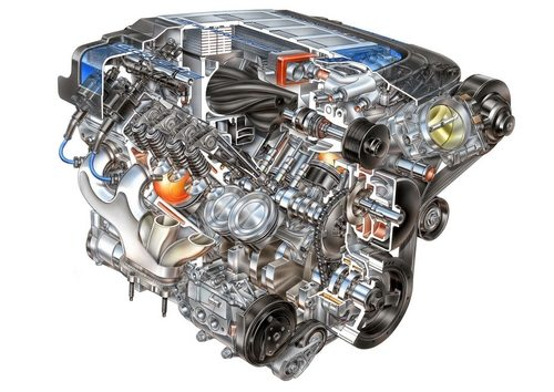 Cutaway view of the LS9 engine