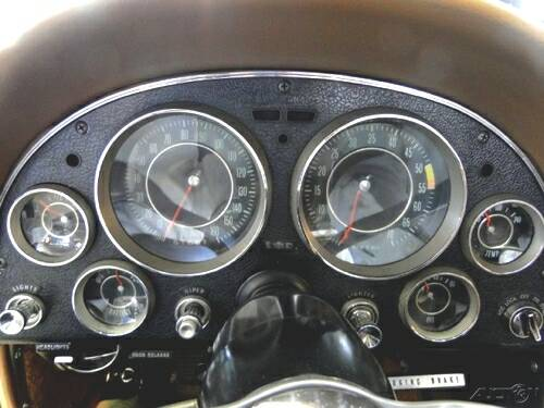 The 1964 Chevy Corvette Dashboard.