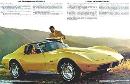 1974 Chevy Corvette Advertisement