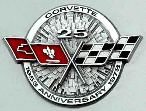 25th Anniversary Corvette Emblem