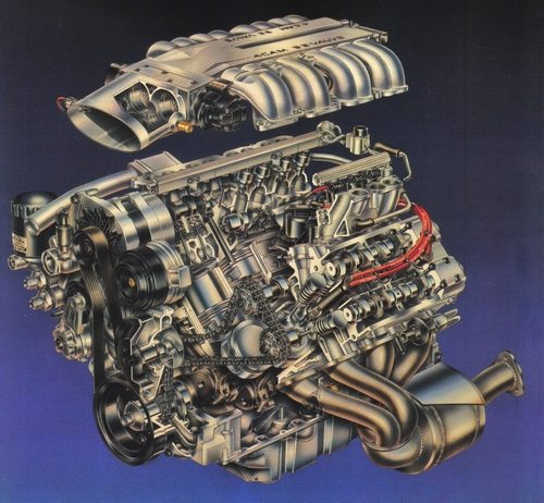 Exploded View of the LT5 Engine