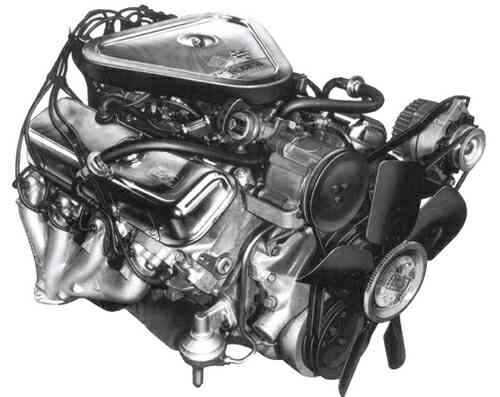 1970 454 Cubic-Inch Big Block Engine