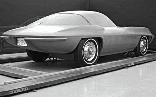 Clay model of the 1957 Q-Corvette