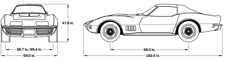 1969 Corvette Dimensions - Coupe