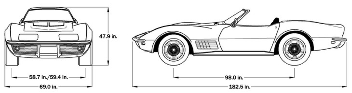 2013 Corvette Dimensions (Softop)