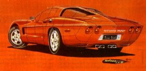 This is a drawing of a C5 concept by Shinoda
