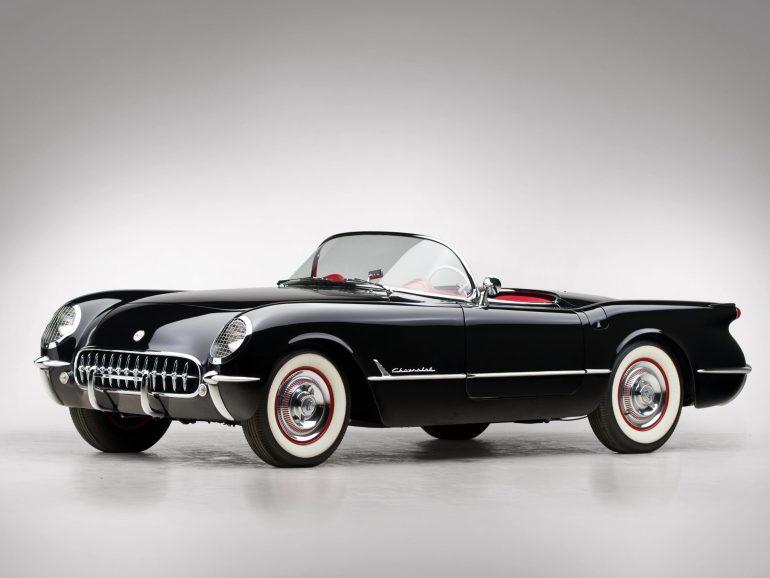 1954 C1 Corvette Black