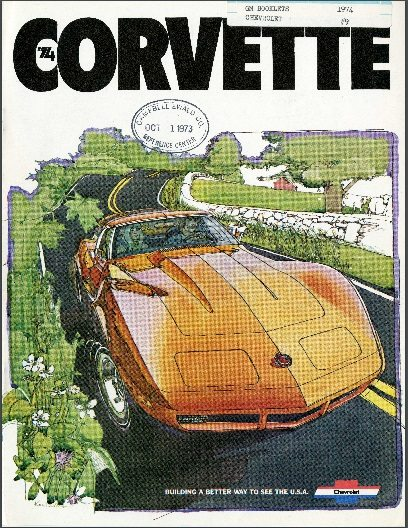 1974 Corvette Dealers Sales Brochure