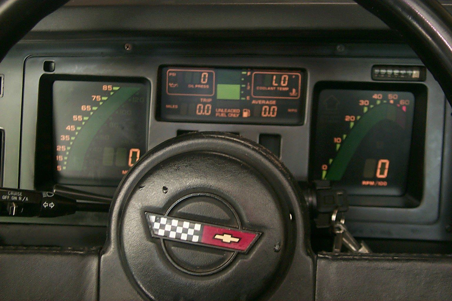1987 Corvette Interior