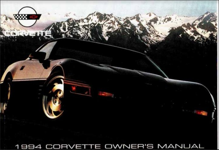 1994 Corvette Owners User Manual