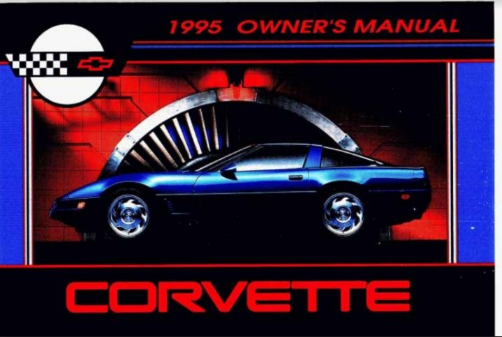 1995 Corvette Owners User Manual