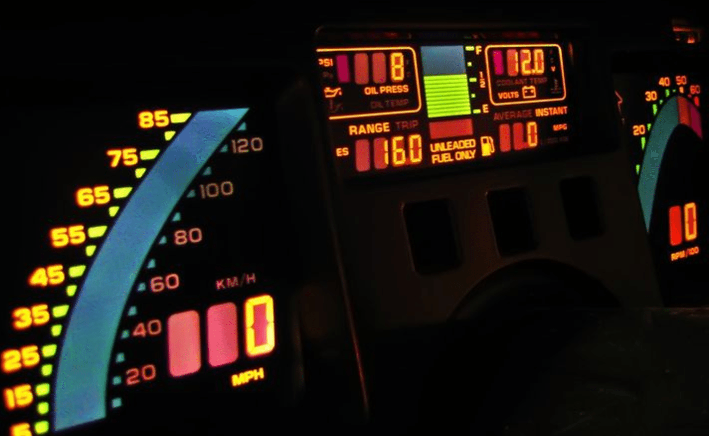 1985 Corvette Digital Dashboard.