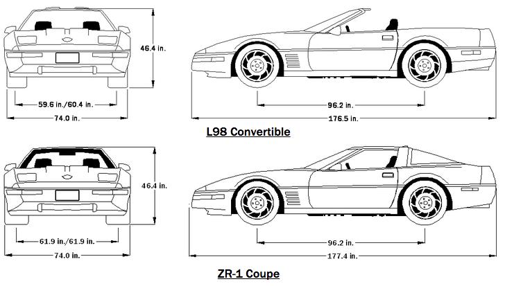 1991 Corvette Dimensions