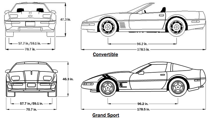 C4 Corvette Suspension Dimensions Com