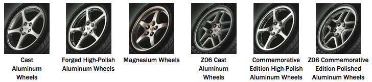 2004 Corvette Wheel Options