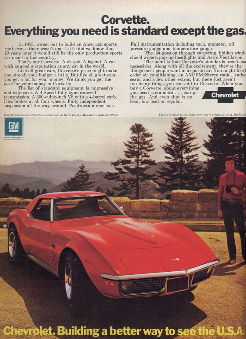 corvette 1972 ad chevrolet c3 ads advertisement corvsport vin advertisements convertible gm