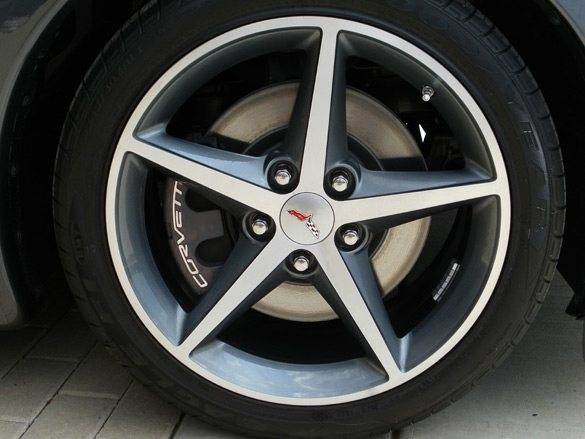 The 2011 Corvette Coupe and Convertible models featured a new wheel design.