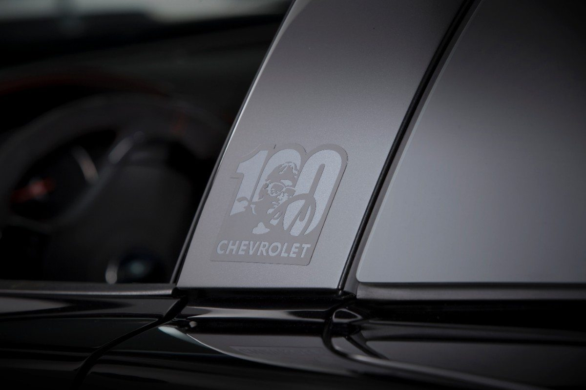 The 2012 Corvette Centennial Edition received special badging to commemorate 100 years of Chevrolet racing.