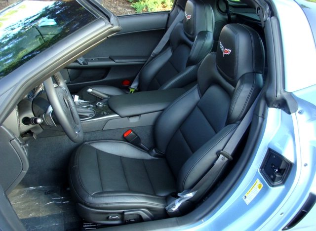The 2012 Corvette received a new seat design, which provided greater lateral support to drivers.