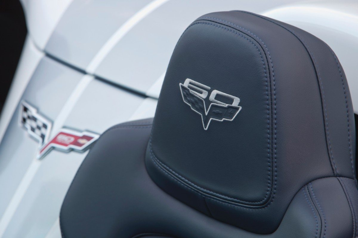 "The 2013 Corvette 427 Convertible included special commemorative ""60th"" badging throughout the car's interior and exterior."