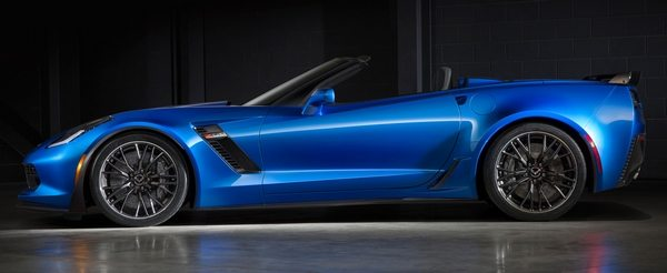 A Blue 2015 Z06 Corvette Convertible