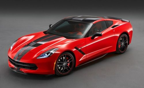 The 2015 Corvette Stingray with the Pacific Design Package in Torch Red