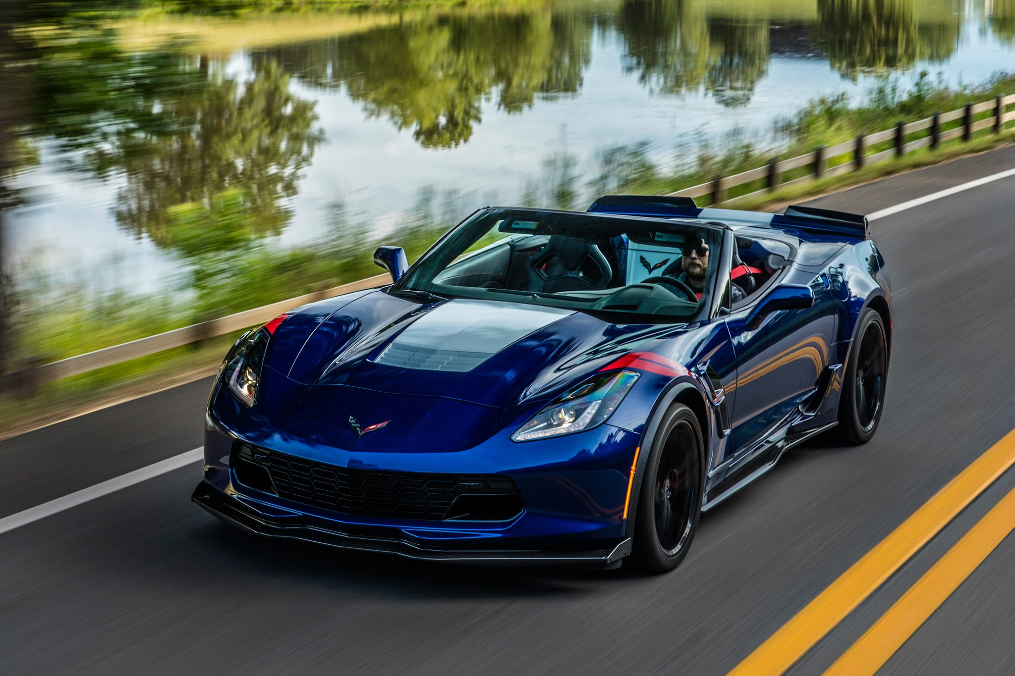 Chevrolet Corvette Grand Sport Front Three Quarter In Motion on c4 corvette quarter panels