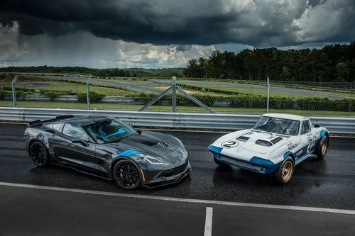 The 2017 Corvette Grand Sport and the 1963 Corvette Grand Sport