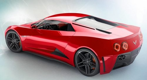 2019 Mid-Engine Corvette Zora in red