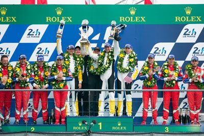 Oliver Gavin Tommy Milner Jordan Taylor at 24 Hours of Le Mans