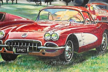 Best Corvette Artworks For Your Man Cave - 1959 Corvette Oil Canvas