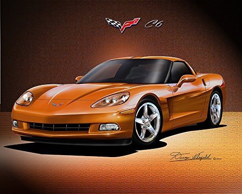 Best Corvette Artworks For Your Man Cave - 2005-2012 Corvette Coupe Art Print Poster