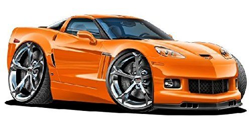 Best Corvette Artworks For Your Man Cave - 2012-14 Chevy Corvette Grand Sport Wall Graphic