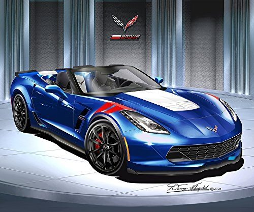 Best Corvette Artworks For Your Man Cave - 2017 Corvette Grandsport Roadster - Art Print Poster